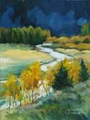 Rush Creek Grant Lake June Lake Loop painting