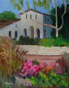 San Luis Obispo Mission Plein Air Quick Draw painting SLO museum 2012