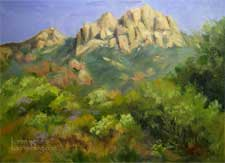 Sandstone Peak Mt. Boney plein air painting