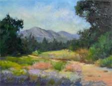 Santa Barbara Botanical Garden Oil Painting