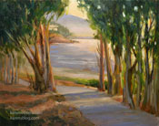 Shimmering Tide Morro Bay State Park Plein Air oil painting golf course morro bay karen winters seascape art for sale