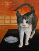 Show me the scampi cat pet portrait painting