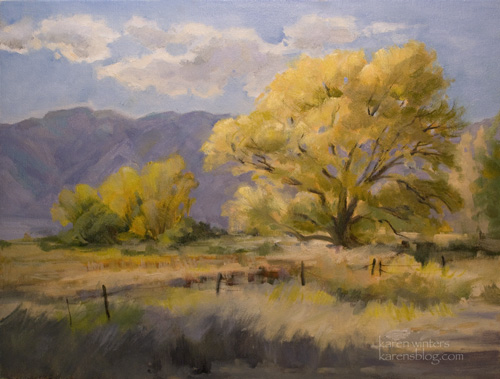 Sierra Breezes Oil Painting California Sierra Landscape