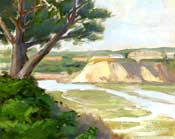 Silvery Streams Newport Back Bay Plein Air Oil Painting