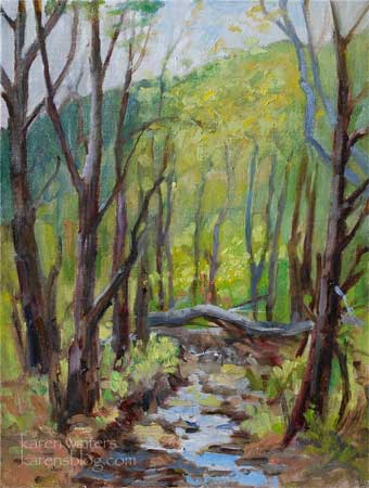solstice canyon malibu oil painting