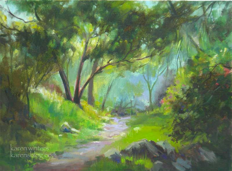 Spring memories karen winters daily painting for Spring canvas paintings