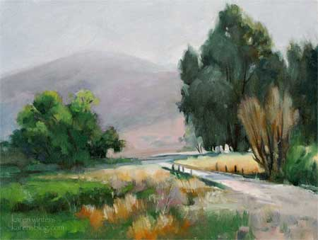 fallbrook california oil painting