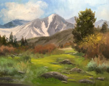 Spring's first song Mt. Emerson Bishop Buttermilk Hills landscape Eastern Sierra oil painting