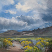 Storm over Paradise Sierra Nevada Painting Bishop Sherwin Grade art