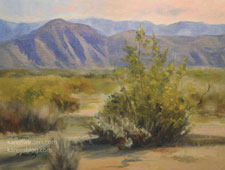 Sunlight and Sand Anza Borrego desert oil painting