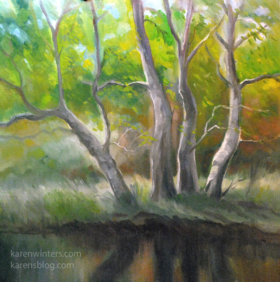 Sycamore Tree Paintings - Sycamore Oil Paintings, Pastels and ...