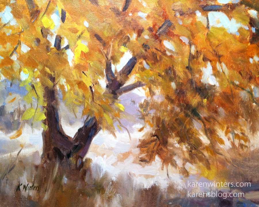 Oil Tree Paintings Tree Oil Painting by Karen