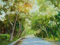 Arroyo Drive South Pasadena Oil painting