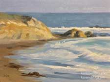 That Moonstone Beach Day oil painting miniature