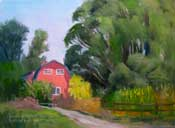 The Kitchen Garden - Los Osos - oil painting