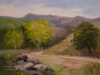 The Waking Sycamores - California Central Coast Oil Painting