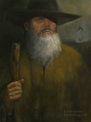 Wotan (Odin) the wanderer oil painting