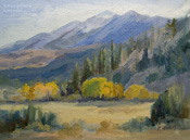 Sierra oil painting This Side of Paradise Sherwin Grade by Karen Winters