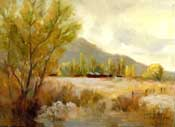 Tin Roof Barn Bishop, California Rock Creek Road Eastern Sierra plein air style painting