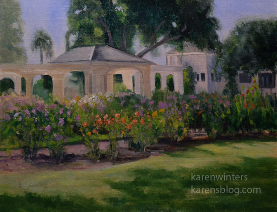 Karen winters california impressionist oil paintings for Oil paintings of houses