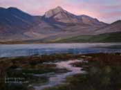 Twilight on Back Bay Morro Bay Oil Painting by Karen Winters