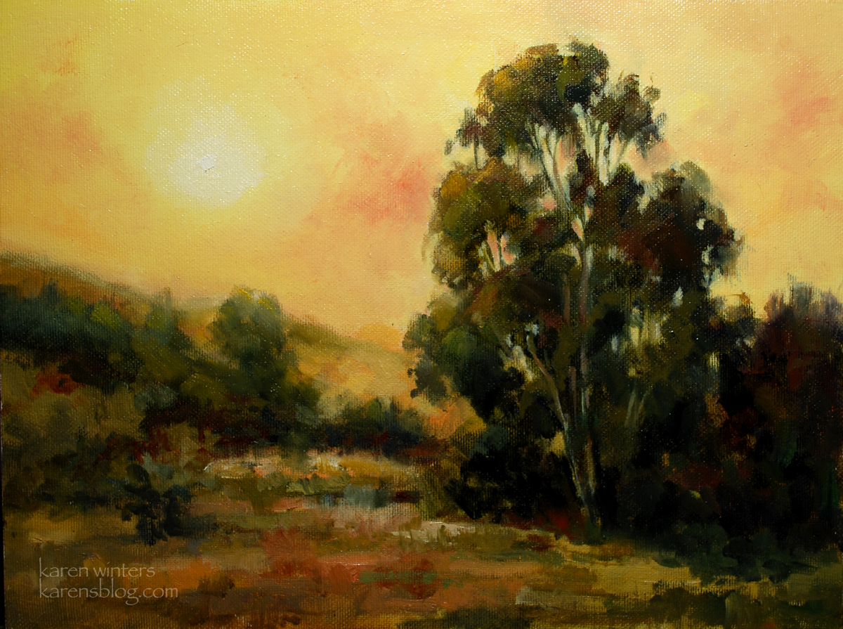California landscape oil painting tonalist fine art for Oil painting scenery