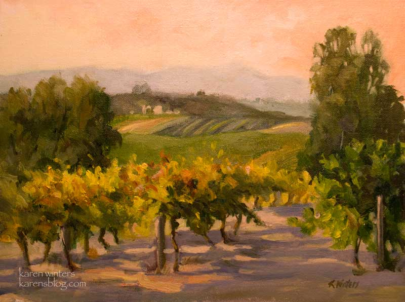 Vineyard Paintings of California by Wine Country Artist ...