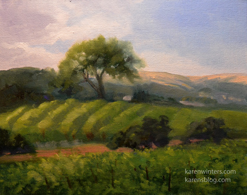 2bd9baedc27 Paso Robles Wine Country Vineyard Country Road oil painting California  Landscape art by Karen Winters