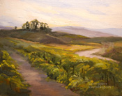 Vineyard Dawn Temecula Falkner Winery oil painting
