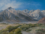 The Way to Mt. Whitney - Mt. Whitney Portal Lone Pine Oil Painting