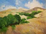 California Golden Rolling Hills Oil Painting