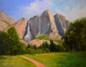 Yosemite Falls 16 x 20 inch oil painting