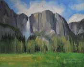 Yosemite Falls Oil Painting Sierra nevada Yosemite Art in the plein air tradition by California landscape artist Karen Winters