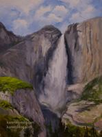 Yosemite Falls, Upper Falls 18 x 24 inches, oil on canvas