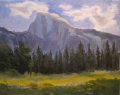 Yosemite Half Dome Oil Painting 8 x 10 inches