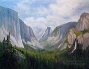 Yosemite Valley, Wowona Tunnel View original oil painting art by Karen Winters
