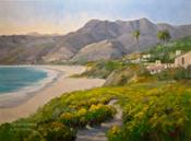Point Dume Zuma Beach oil painting by California Art Club artist Karen Winters
